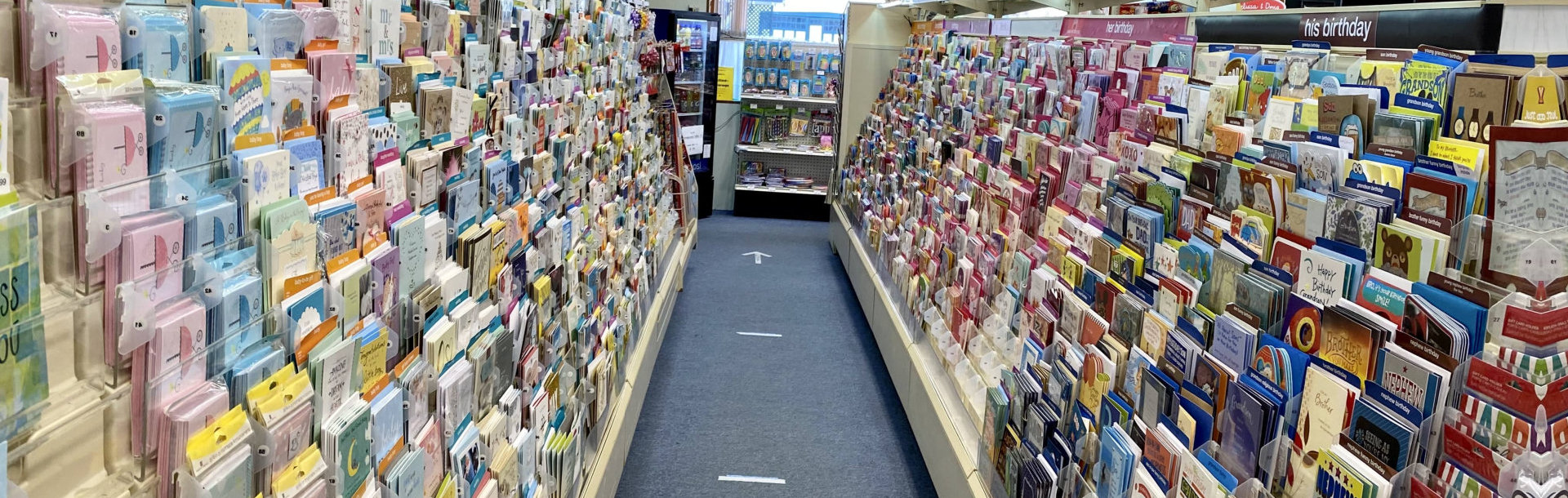 aisle with merchandise